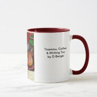 Caneca Tiramisu, café e escrevendo demasiado