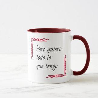 Caneca Todo espanhol do quiero do provérbio