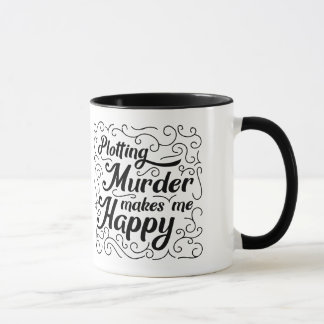 Caneca Traçar o assassinato faz-me feliz