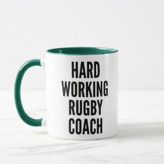 Caneca Treinador de trabalho do rugby do duro