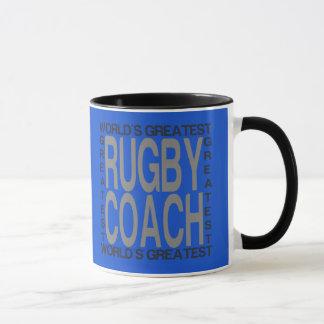 Caneca Treinador do rugby dos mundos o grande