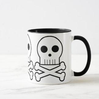Caneca tripla 1 do copo de café dos crânios do