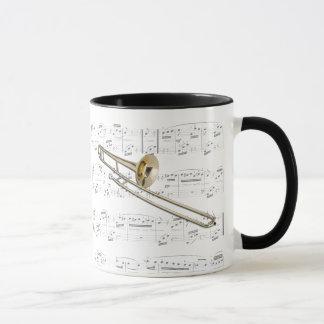 Caneca - Trombone (conteúdo) com partitura