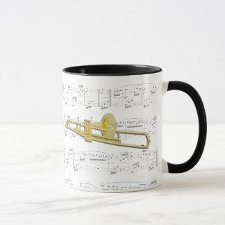 Caneca - Trombone (valved) com partitura