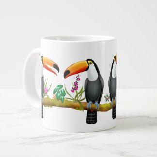 Caneca tropical do jumbo dos pássaros de Toucan