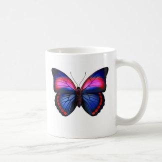 Caneca tropical exótica da borboleta