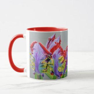 Caneca Tulipa do papagaio de Rocco, pedais encaracolado