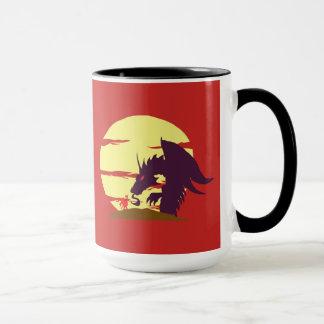 Caneca Um assassino pequeno do dragão do cavaleiro