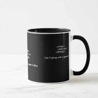 Caneca Um copo de café para programadores web