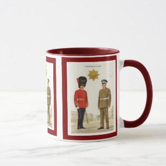 Caneca Uniformes históricos do exército britânico,