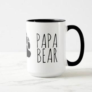 Caneca Urso alegre legal da papá da pata de urso do