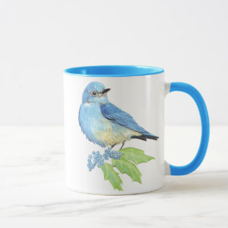 Caneca Uva de Oregon do Bluebird da montanha