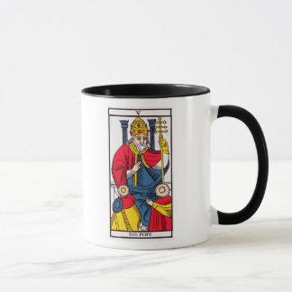 Caneca V o papa, cartão de Tarot