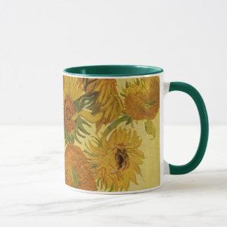 Caneca Vaso com quinze girassóis, belas artes de Van Gogh