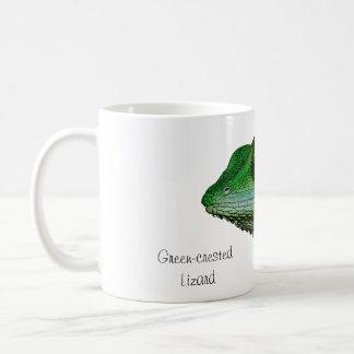 caneca Verde-com crista do lagarto