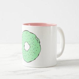 Caneca verde da rosquinha