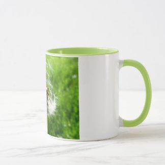 Caneca verde do dente-de-leão
