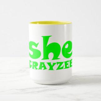 Caneca Verde fluorescente ela Crayzee