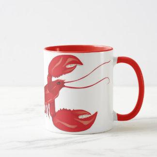 Caneca vermelha da lagosta