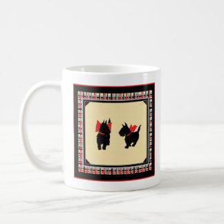 Caneca De Café Caneca vermelha de dois arcos dos terrier