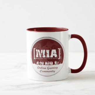 Caneca Vermelho do logotipo do copo do café de MIA