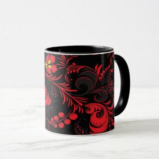 Caneca Vermelho & preto (estilo de Paleh do russo)