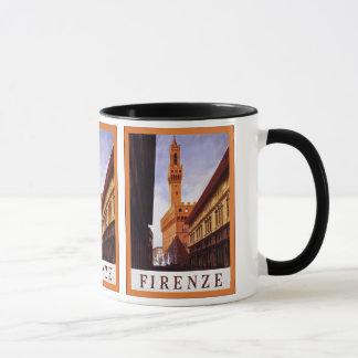 Caneca Viagem italiano do vintage do ~ de Firenze