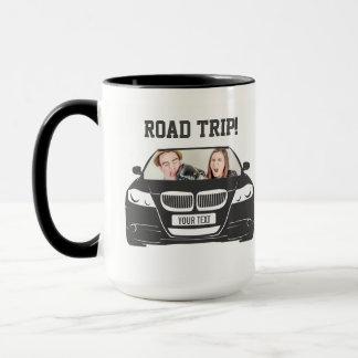 Caneca Viagem por estrada feita sob encomenda engraçada