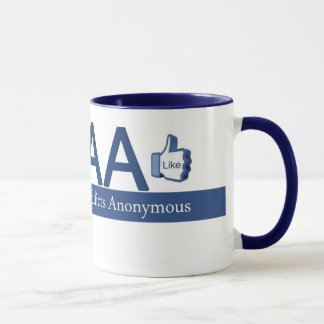 Caneca Viciados de Facebook anónimos
