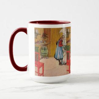 Caneca Vintage Carl Larsson a cozinha