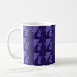 Caneca violeta do gorila