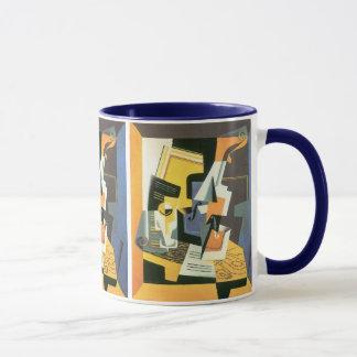 Caneca Violino e vidro por Juan Gris, Cubism do vintage