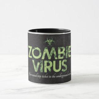 Caneca Vírus do zombi - Dois-Tom preto 11oz