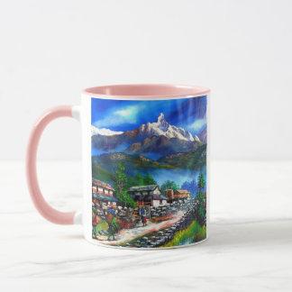 Caneca Vista panorâmica da montanha Nepal de Everest