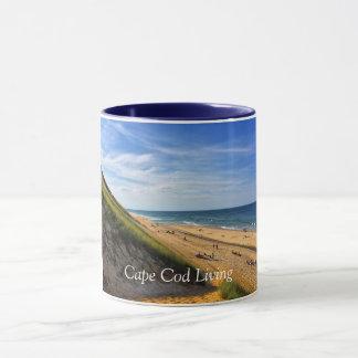 Caneca viva de Cape Cod - cena da praia de Truro