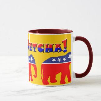 Caneca Você Betcha! & elefantes modernizados do GOP
