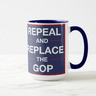 Caneca Vote para fora o GOP! Resista!
