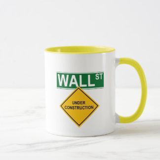 Caneca Wall Street sob a construção