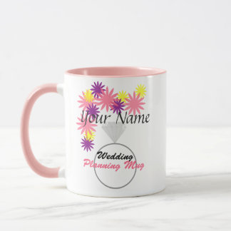 Caneca Wedding personalizada do planeamento