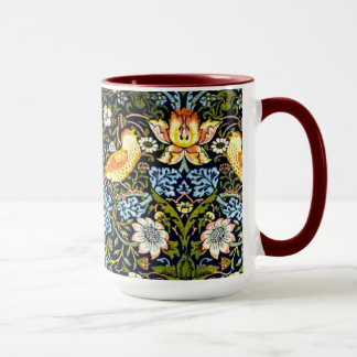 Caneca William Morris: Design do vintage do ladrão da