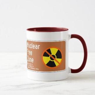 Caneca Zona franca nuclear, sinal, Califórnia, E.U.