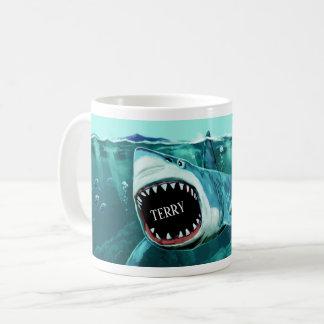 Canecas conhecidas feitas sob encomenda do tubarão