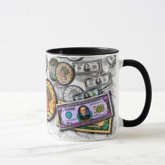 Canecas & copos - pop art grande da moeda