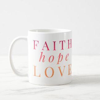Canecas cristãs - amor da esperança da fé - verso