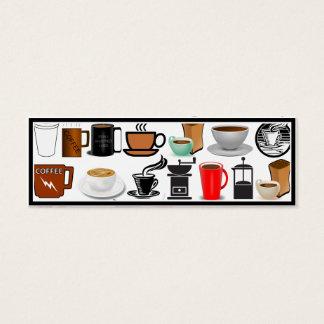 Canecas de café (adicione a cor do fundo) cartão de visitas mini