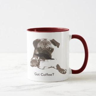 Canecas de café bonitos do Pug do bigode