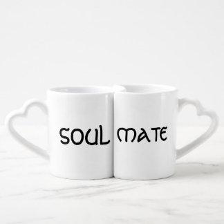 Canecas de café da alma gémea dos amantes