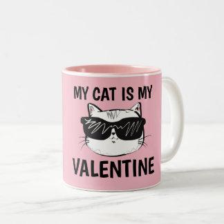Canecas de café do dia dos Anti-Namorados, gato