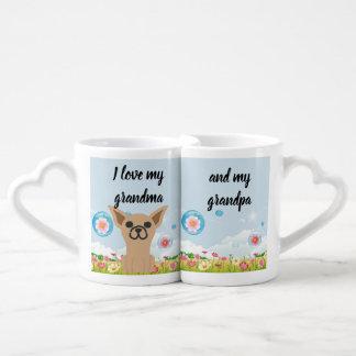 Canecas de café do jardim da chihuahua para a avó
