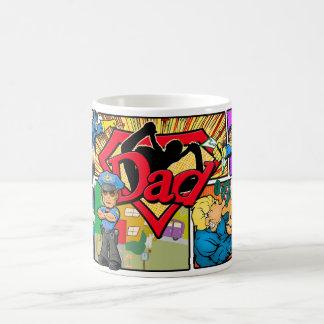 Canecas de café do pai do super-herói